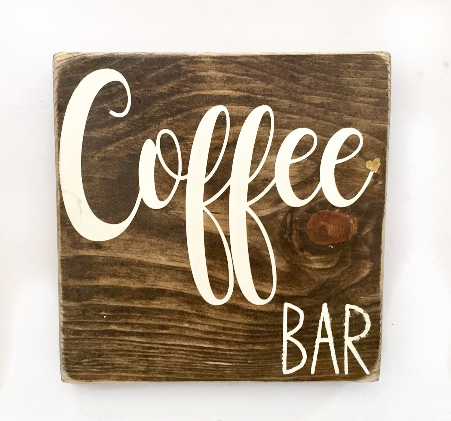 Home Bar Signs: Coffee Bar Sign // Coffee Sign // Home Decor // Rustic Wood