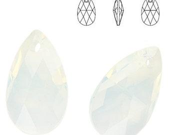 Swarovski Elements, 6106, Pear-shaped, White Opal, 22mm, Swarovski Pear, Swarovski Pear-shaped, Swarovski crystal, Opal crystal