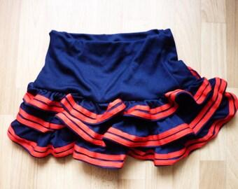 Mini Skirt blue red Sailor Girl Rockabilly Skirt Summer Volants XS S