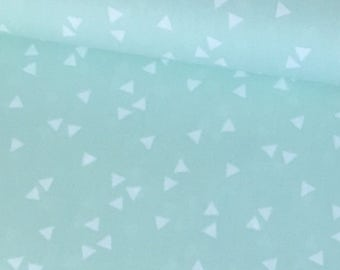 Cotton fabric triangles 7mm mint type 7925