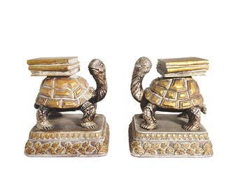 Tortoise Bookends