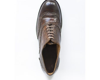 Humphrey B.-Oxfords mens shoes-Handmade shoes- Oxford shoes-custom shoes-mens shoes-leather shoes men-brown shoes-mens oxfords