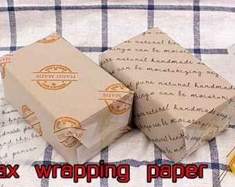 50pcs/lot Pringting HANDMADE Pattern Soap Wrapping Paper translucent Wax Tissue Paper Packaging choose your pattern