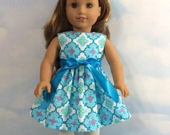 """Precious Blue dress for 18"""" doll"""