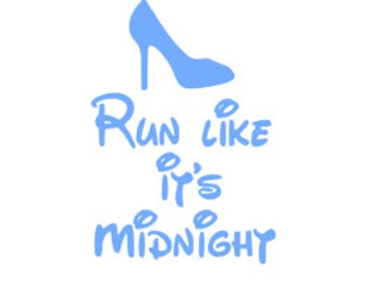 Run Like It's Midnight; Quality Vinyl Decal, Disney Decal, Disney Yeti Decal, Disney Car Decal, Gifts for Disney addicts, Fast Processing!!