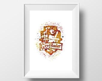 Harry Potter, Gryffindor Logo, Hogwarts *Print*