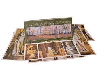 Lot 1, Quantity 15 Vintage Postcards Set Collection Summer Garden Museum 1985 Memorabilia