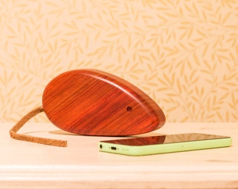 Handmade wooden mouse ornament