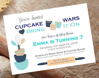Digital CupCake Wars Birthday Party