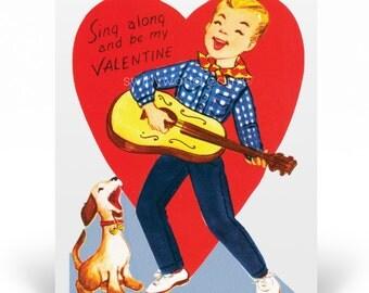 Vintage 1950s Boys Valentine's Day Cards, 1950s Vintage Valentine Cards, Printed Vintage 1950s Style Valentine Cards for Boys, VAL142