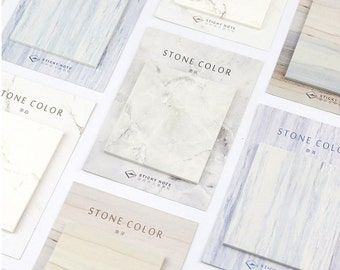 Stone Color Sticky Notes, Post It Notes, Reminder Notes, Memo Pad Stickers