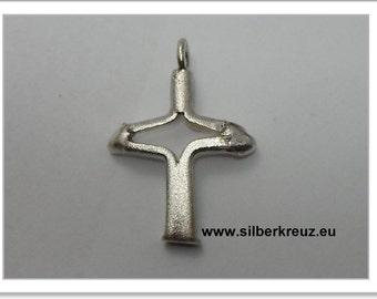 Aufgerissen-cross Silber925 (AKR-1148)