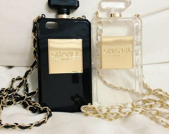 PRE-ORDER: iPhone perfume bottle iphone case. Clear or Black colour