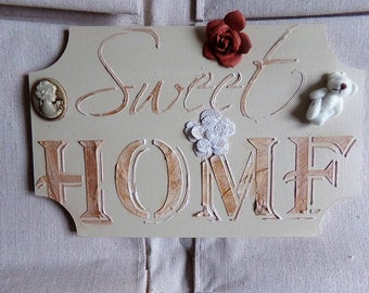 """Door plate """"Sweet home"""" style shabby"""