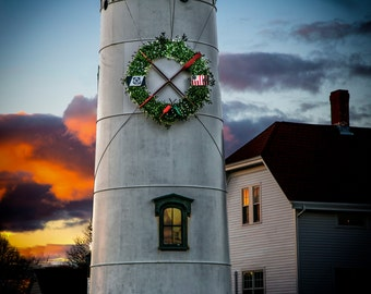 6 Cards - Chatham Light Christmas Card