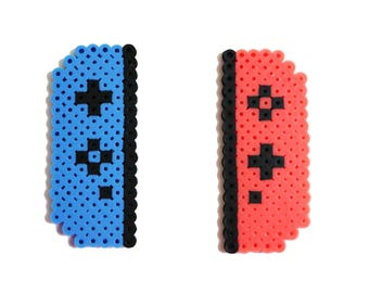 Nintendo Switch Controllers, Key Chain, Magnet, Perler Bead