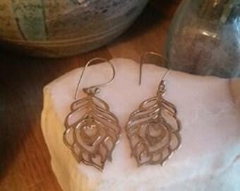 Tree of life Brass Earrings, Brass Earrings, Tribal Earrings