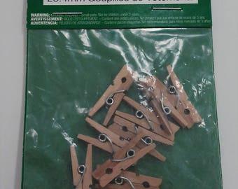"1"" Tiny Clothespins"