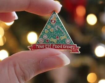 Elf // Soft Enamel Christmas Pin // Buddy the Elf Food Groups