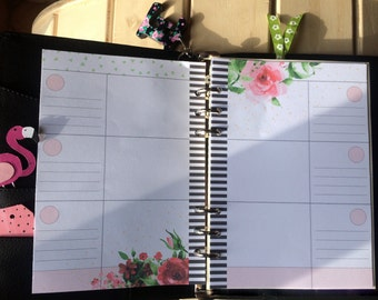 Refill memory planner per agenda a5 - motivo floreale - pdf instantaneo