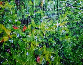 Welcome Spring (n.303) - 77 x 58 x 2,50 cm - ready to hang - mix media painting on stretched canvas