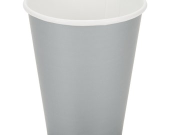25 Ct Silver Poly Paper Cups 9oz Hot/Cold, Party Supplies, Wedding Supplies, Party, Wedding, Paper Cups, Beverage Cups, Cups, Supplies
