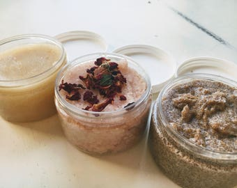 Sugared Coconut Body Scrub | Vegan, All Natural Skincare for Sensitive Skin | Great for Holiday Gifts, Party Favors, Personal Care