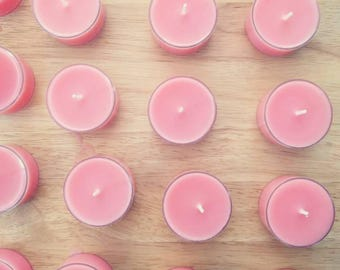 Bulk 100 Scented Soy Tea Lights - Soy Tea Light Candles - Party Decor, Home Decor, Wedding Decor, Party Favors - Best Scented Candles in SF!