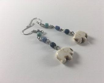 Water Elephant Earrings