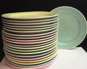 """Luray Pastels - Bread & Butter Plates - 6 1/2"""""""