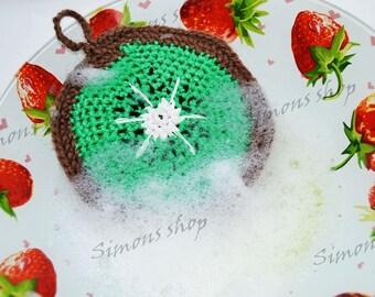 Nylon Dish Scrubbies Crochet Pot Scrubbers kiwi