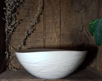 Gougee white porcelain bowl