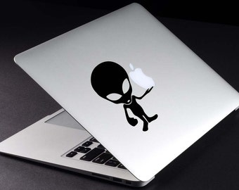 Alien Decal Macbook Vinyl Sticker Macbook Retina Decal UFO Sticker