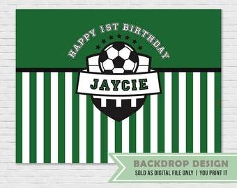 Soccer Birthday Party Backdrop // Football Birthday Party Banner Backdrop // Sports Backdrop