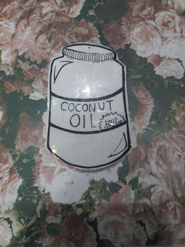 Vinyl Tumblr Inspired Coconut Oil Natural Hair Stickers