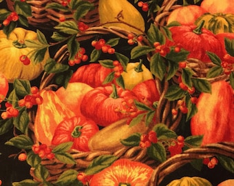 High Quality Quilters Cotton Printed with a Multitude of Gorgeous Cornucopias
