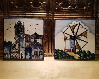 Handpainted Decorative Tiles Made in Portugal