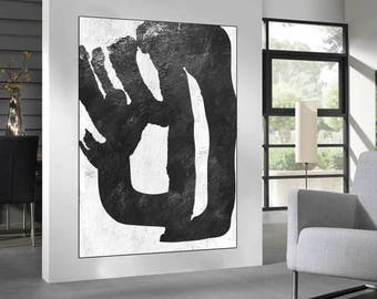black and white large Abstract painting wall art, original abstract  Painting, large canvas art painting,  acrylic painting