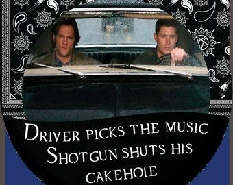 Driver Picks The Music Shotgun Shuts His Cake Hole