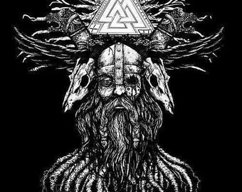 Yggdrasil and odin T-shirt