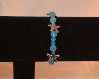Starfish Sea Glass Bracelet