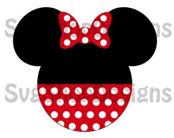 Minnie Mouse Ears Silhouette svg, dxf, clipart, SVG files for Silhouette Cameo or Cricut, Toy Story, vector, svg, dxf ,eps,ai,png,jpg