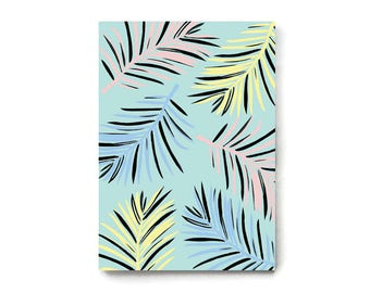 A5 Palm Tree Notebook, Small Notebook, Cute Stationery, Doodles