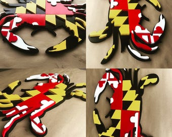 3D Maryland Flag Crab - Wall Art