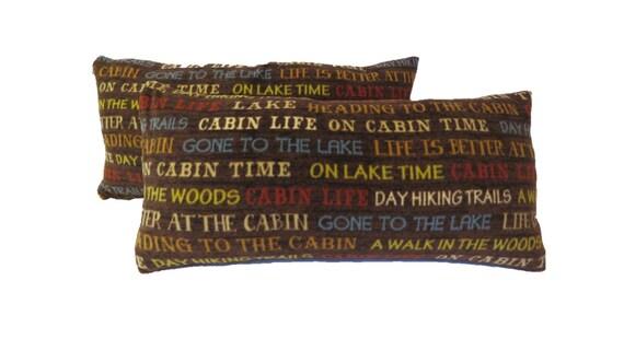 Throw Pillows for Cabin or Home Decor Set of