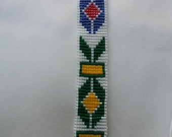 First Nation inspired Beaded Bracelet.