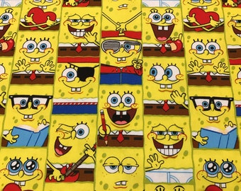 Yellow SpongeBob Fabric