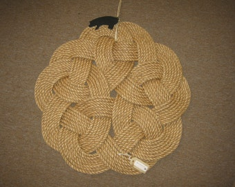 Nautical Rope Door Mat or Wall Hanging Celtic Knot Design