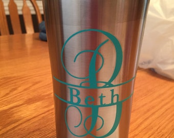 Monogram with Name 20 oz Stainless Steel Cup