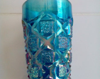 Carnival Glass Tumbler - Old Quilt